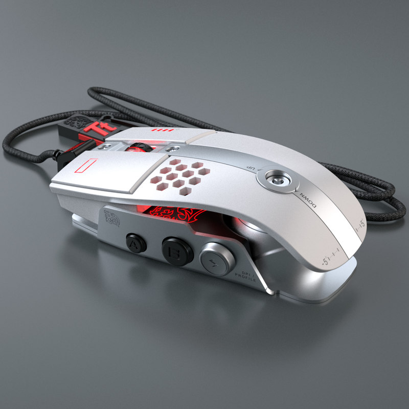 pc mouse thermaltake level10m 3d max