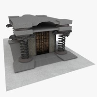 3d unique temple model