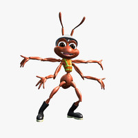 Worker Ant Character (Rigged) (Animated)