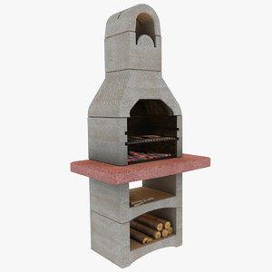 yard bbq grill 3d 3ds