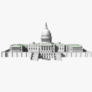 3d model united states capitol building