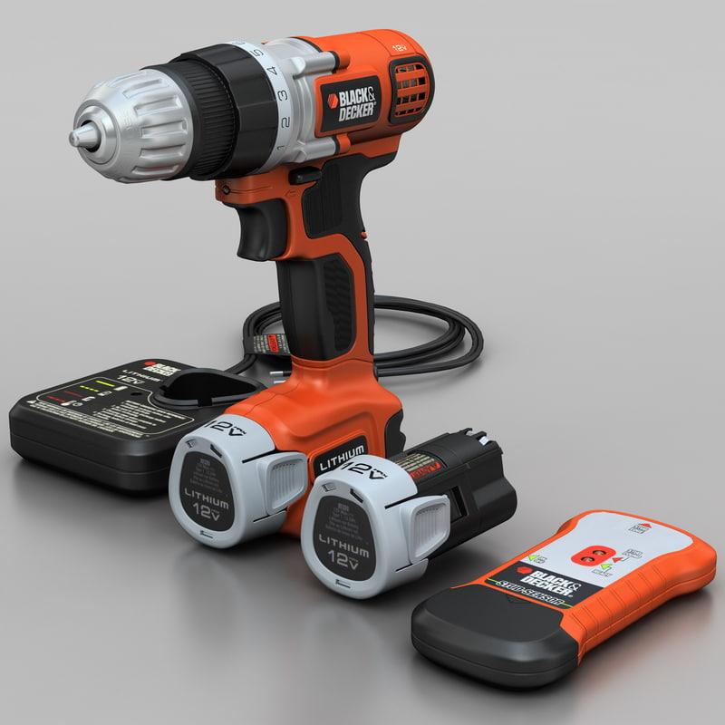 3d drill black decker ldx112c