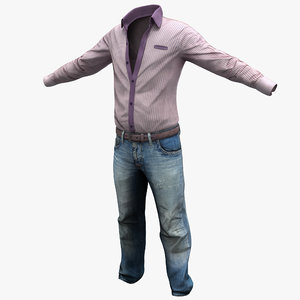 3ds max male casual clothes 2
