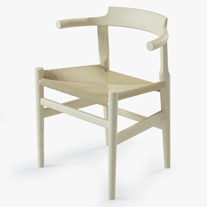 photorealistic pp58 chair 3d model