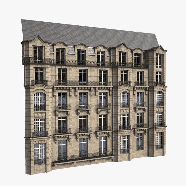 3d facade parisian model