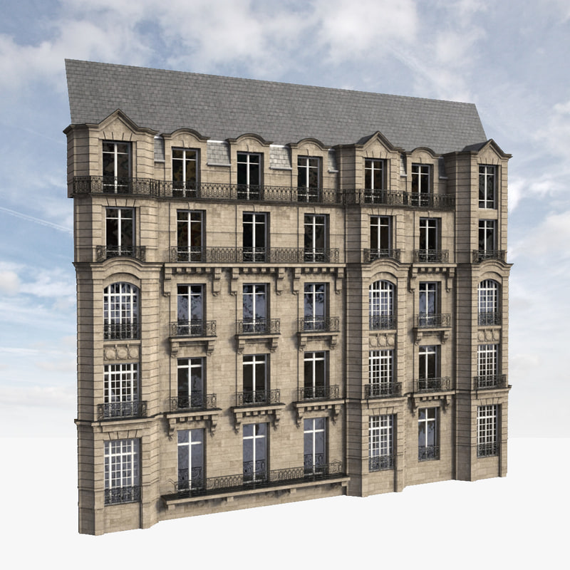 3d facade parisian model