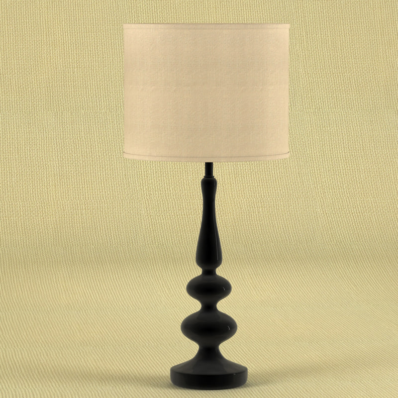 3d model wooden table lamp