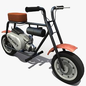 3d model moped modeled