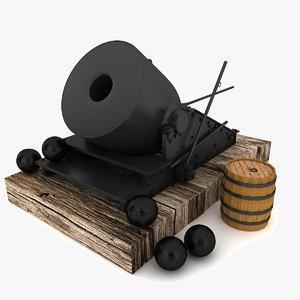 3d cannon artillery