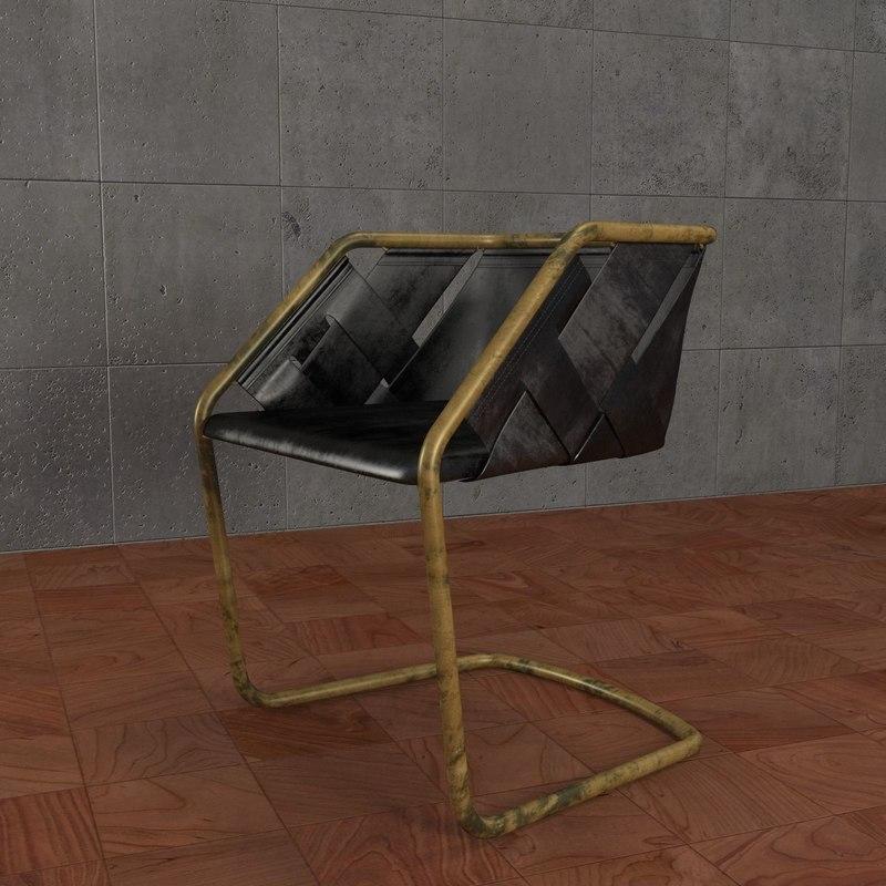 henge strip chair 3d max