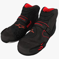 motorcycle boots obj