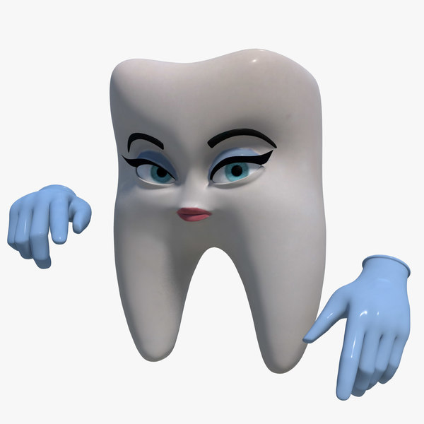 3d female tooth dentist rigged