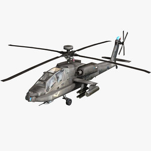 3d model army attack helicopter