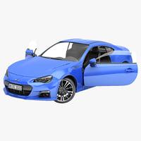 subaru brz 2013 sport car 3d max