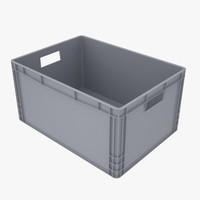 c4d plastic crate