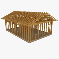 wooden house wood 3d model