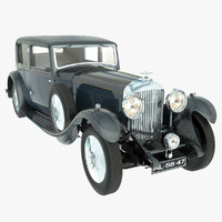bentley 8 litre 1931 3d obj
