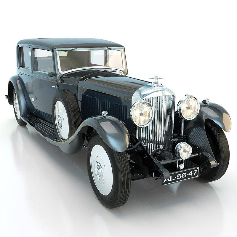bentley 8 litre 1931 3d obj