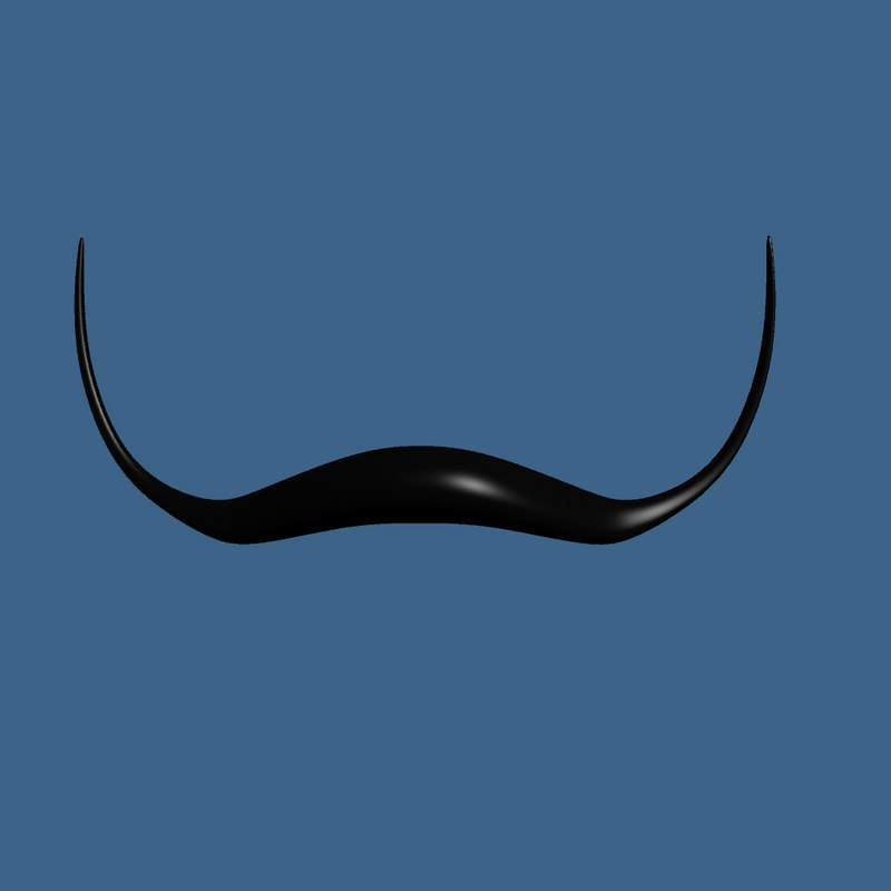 3ds max cartoon dali style mustache