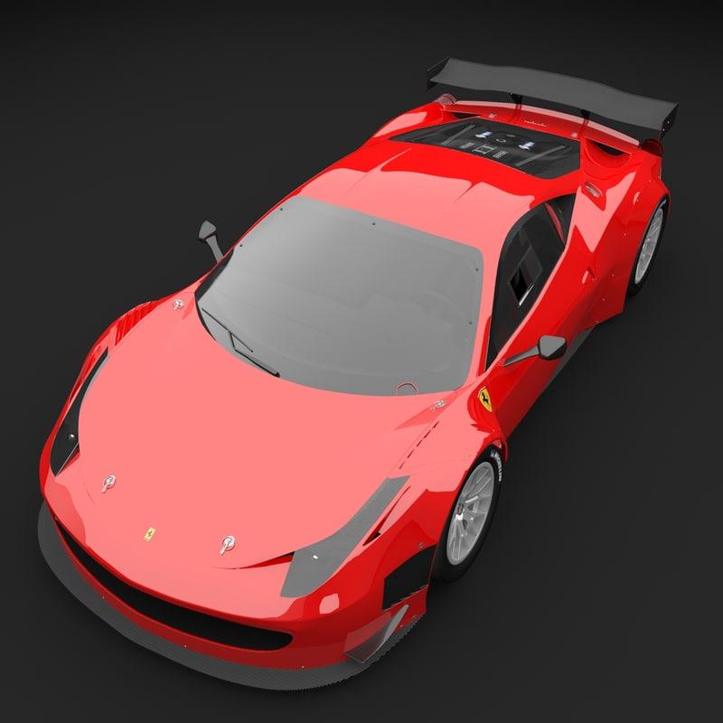 3d model of ferrari 458 gt3