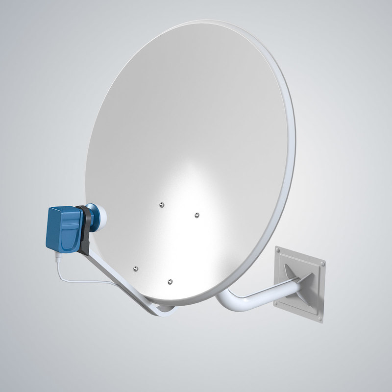 3d satellite antena model