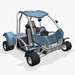 3d buggy cartoon model