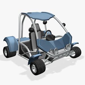 3d buggy cartoon model