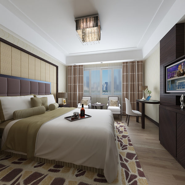 3d hotel room model for 3d model room design
