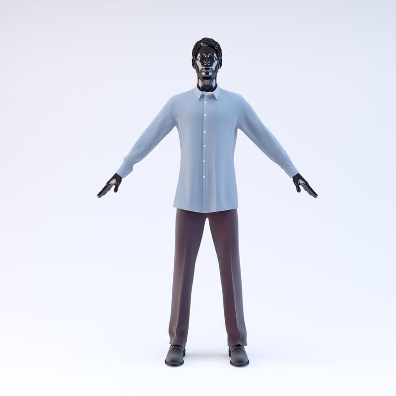 showroom mannequin male 01 3d model