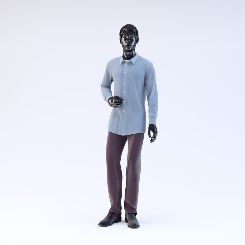 3d model showroom mannequin male 05