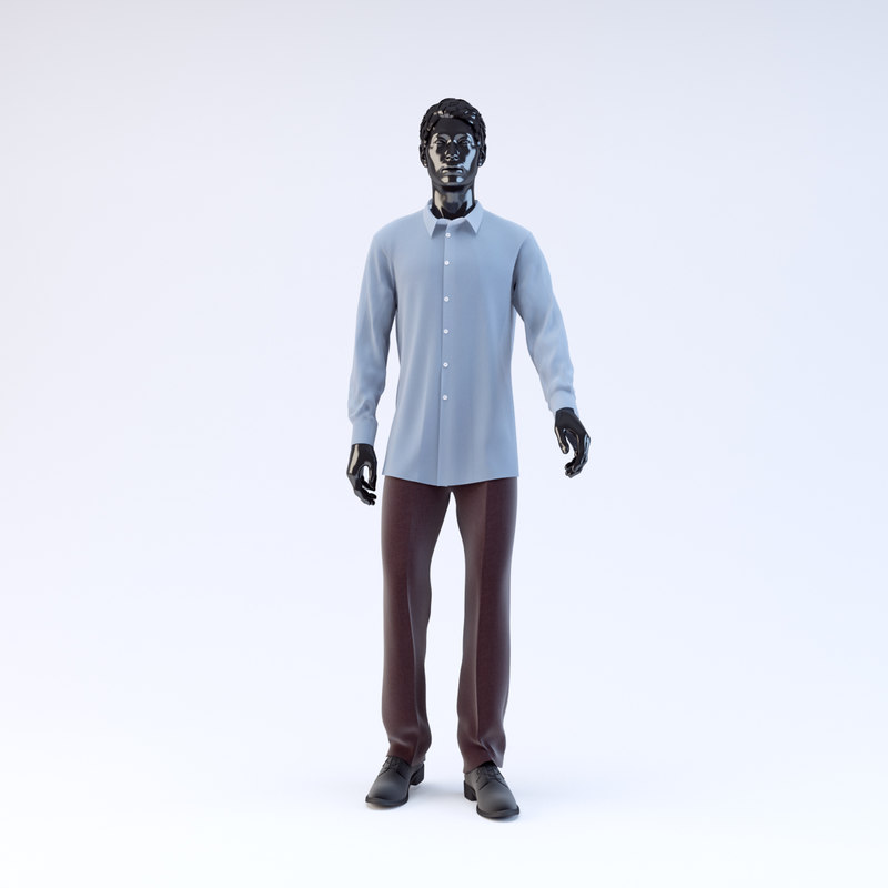 showroom mannequin male 03 3d model