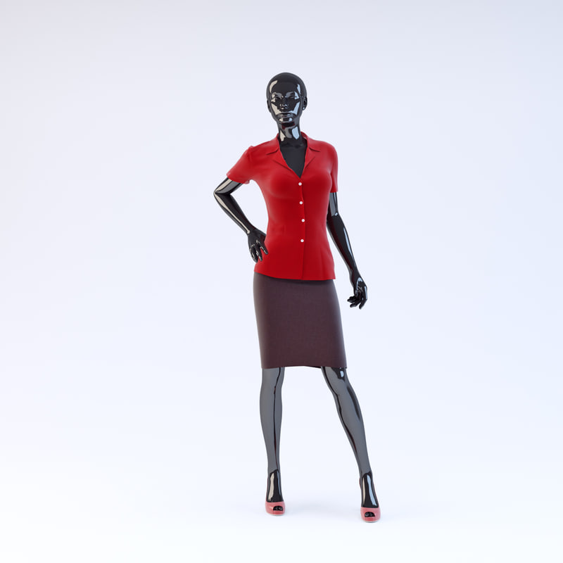 showroom mannequin 13 3d model
