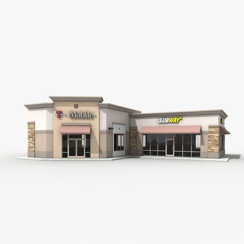 3d subway retail store 1 model