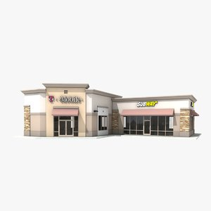 3d subway retail store 1 model