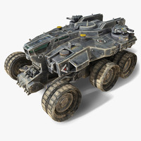 scifi heavy vehicle 3d model