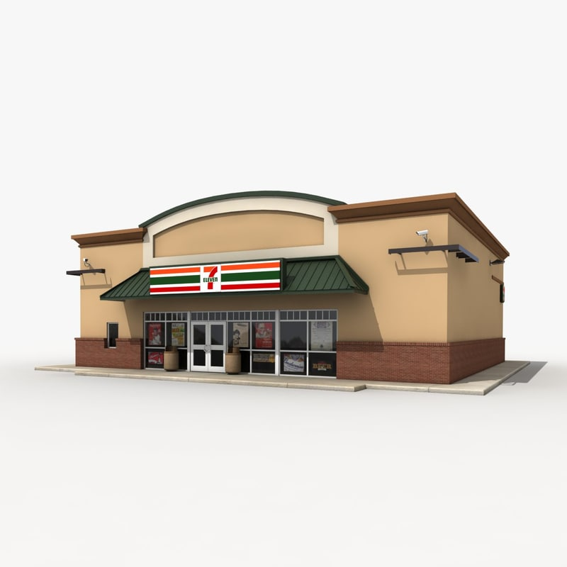 3d seven convenience store for 3d store layout design software