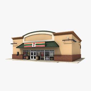 3d seven convenience store