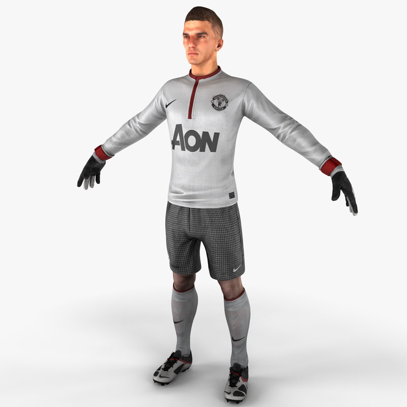 3ds max soccer goalie rigged
