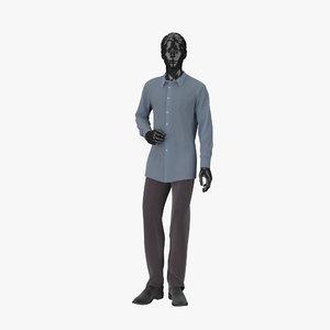 3d model showroom mannequin male 05