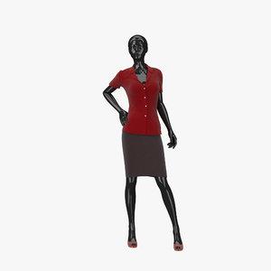 showroom mannequin 13 3d model