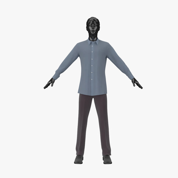 showroom mannequin male 01 3d model