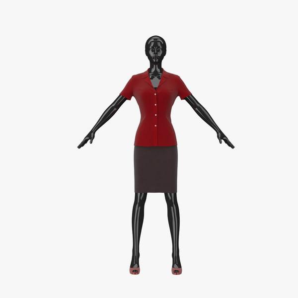 showroom mannequin 11 3d model