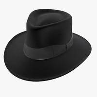 jaxon hat fedora black 3d max