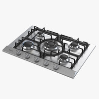 miele cooktop 3d model