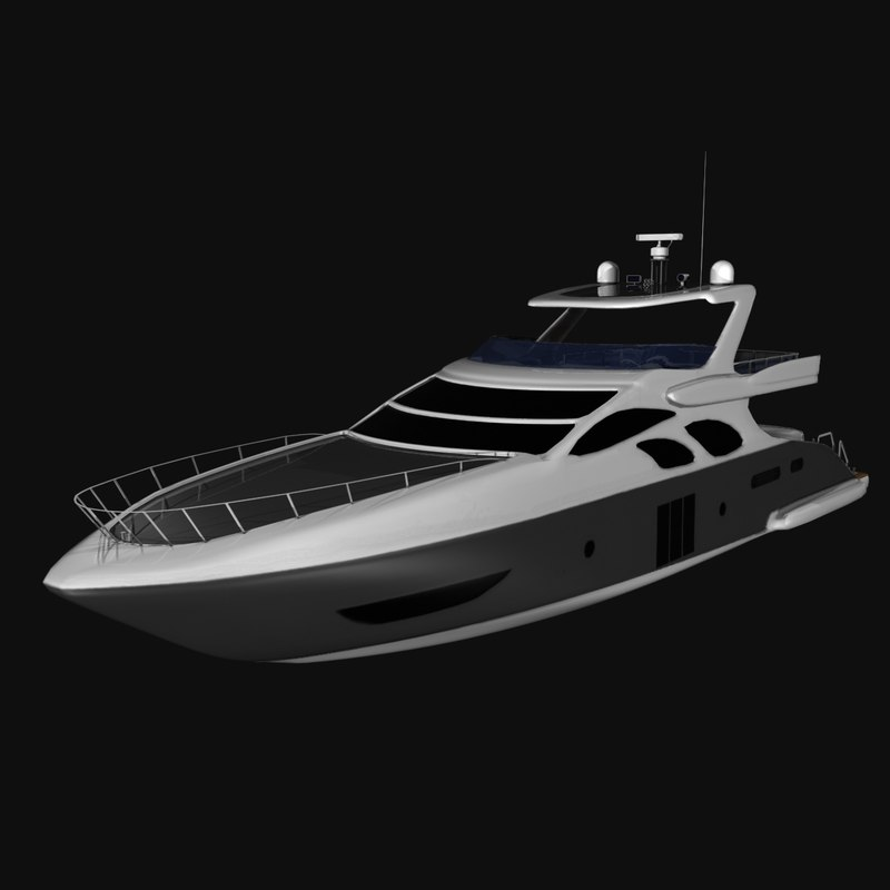 azimut 100 yacht 3d max