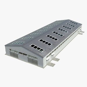 3d hangar warehouse contains