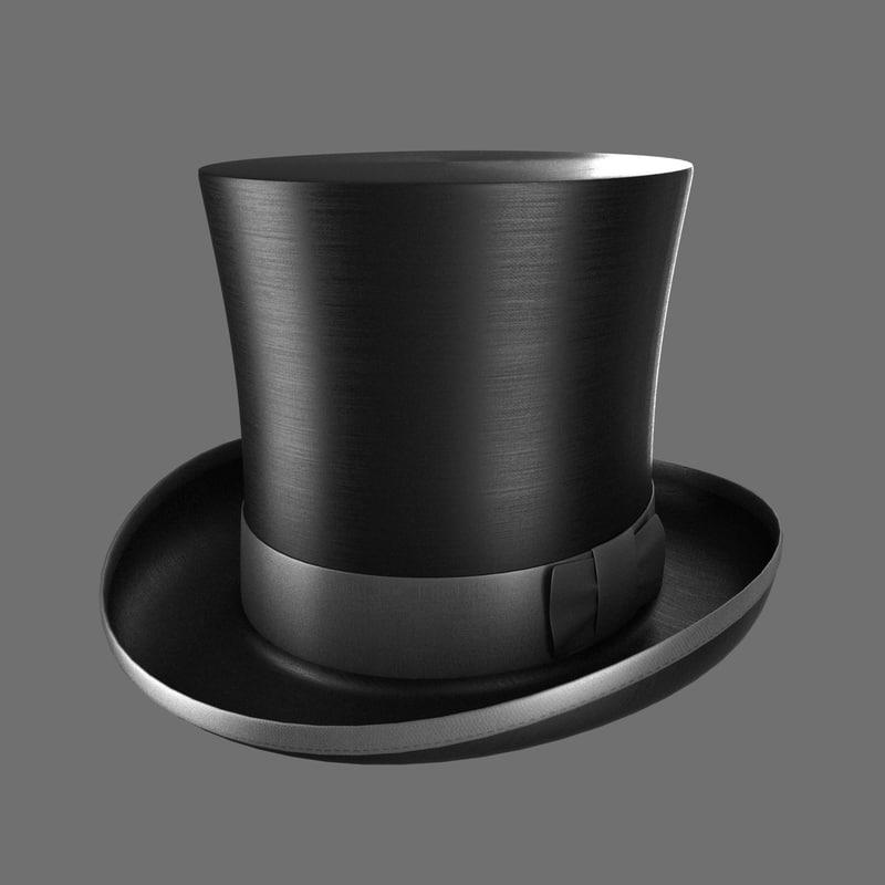 3d model cylinder hat