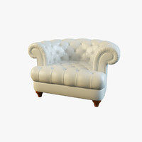 3ds max lisette armchair