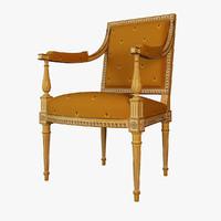 armchair salda arredamenti 3d 3ds