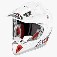 Motocross Helmet Airoh Stelt White